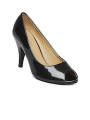DressBerry Women Metallic Black Sandals