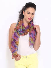DressBerry Women Multi-Coloured Printed Scarf