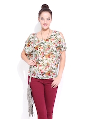 DressBerry Women Multicoloured Floral Printed Top