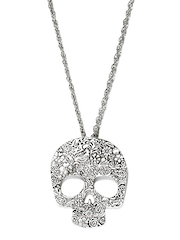 DressBerry Silver-Toned Skull Necklace