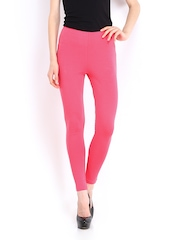 DressBerry Women Pink Cotton Stretch Leggings
