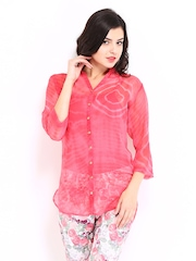 DressBerry Women Pink Printed Shirt