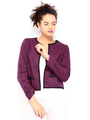 DressBerry Women Purple & Black Jacket