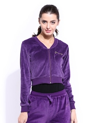 DressBerry Women Purple Cropped Jacket