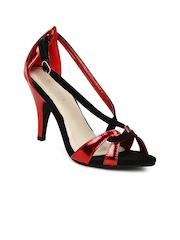 DressBerry Women Red & Black Sandals