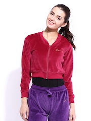 DressBerry Women Red Cropped Jacket