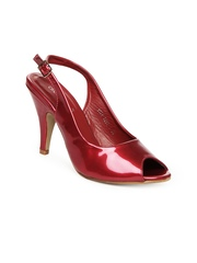 DressBerry Women Metallic Red Sandals
