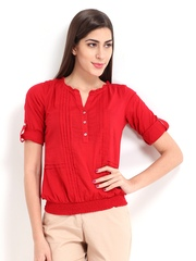 DressBerry Women Red Top