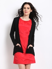 Dressberry Women Black Long Shrug