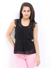 DressBerry Women Black Top
