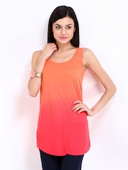 DressBerry Women Orange & Pink Top