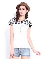 DressBerry Women White & Black Top