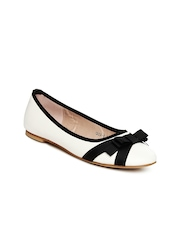DressBerry Women White Ballerinas
