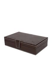 Dsigner Unisex Brown Leather Watch Organiser Case