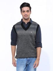 Duke Men Black Sleeveless Sweater