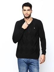 Duke Stardust Men Black Wool Blend Sweater