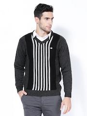 Duke Men Charcoal Grey Wool Blend Sweater