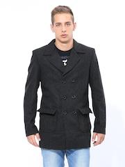 Duke Men Charcoal Grey Long Coat