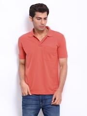 Duke Men Coral Red Polo T-shirt