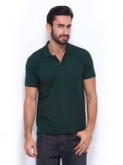Duke Men Green Polo T-shirt