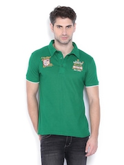 Duke Men Green Polo T-shirt