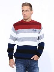 Duke Men Multicoloured Striped Sweater