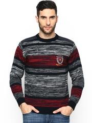 Duke Men Multicoloured Wool Blend Sweater