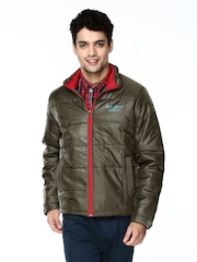 Duke Men Olive Green Padded Jacket