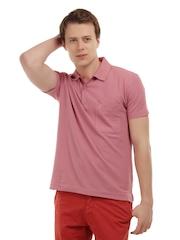 Duke Men Pink Polo T-Shirt