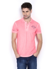 Duke Men Neon Pink Polo T-shirt