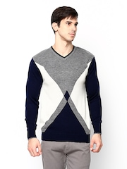 Duke Stardust Men Multicoloured Wool Blend Sweater
