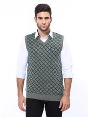 Duke Men Grey Wool Blend Sweater