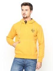 Duke Men Yellow Hooded Sweatshirt