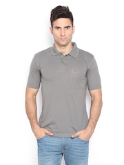Duke Men Grey Polo T-shirt