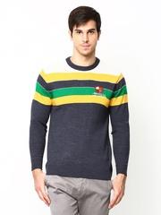 Duke Stardust Men Blue Wool Blend Sweater