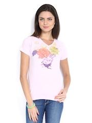 Duke Women Pink Printed T-shirt