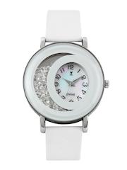 Dvine Women Iridescent White Dial Watch