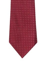 ETC Maroon Printed Tie