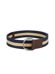 ETC Men Navy & Beige Striped Belt