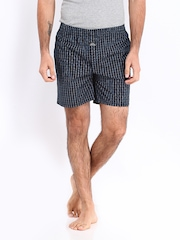 ETC Men Black & Blue Checked Boxers ETCSS14BXR GG3314