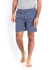ETC Men Blue & White Checked Boxers ETCSS14BXR GG3290