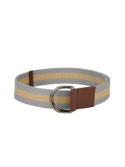 ETC Men Grey & Beige Striped Belt