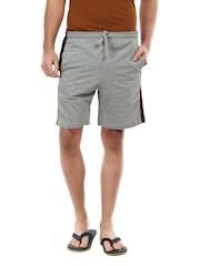 ETC Men Grey Melange Basic Shorts