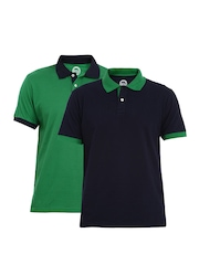 ETC Men Pack of 2 Pique Polo T-shirts