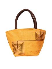 Earthen Me Mustard Yellow Jute Handbag