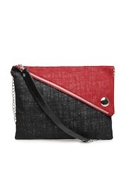 Earthen Me Red & Black Jute Sling Bag