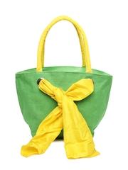 Earthen Me Women Green Tote Bag