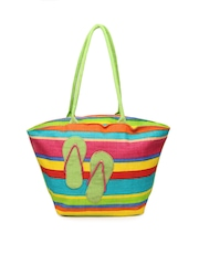 Earthen Me Women Multi-Coloured Fashion Jute Tote Bag