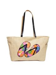 Earthen Me Women Beige Fashion Jute Bag