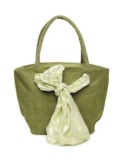 Earthen Me Women Olive Green Tote Bag